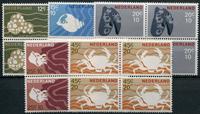 Nederland - Zomerzegels 1967  in blokken van 4 (nr. 877-881, postfris)