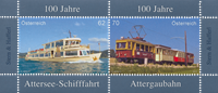 Austria - Boat transport Attersee - Mint souvenir sheet