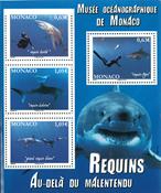 Monaco - Hajer - Postfrisk miniark