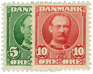 Danmark 1907 - AFA nr.54-55 - Postfrisk