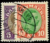 Danmark 1927-28 - AFA nr.176-77 - Stemplet
