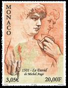 Monaco - Michel Angelos David skulptur - Postfrisk frimærke