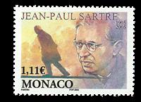 Monaco - Jean-Paul Sartre - Mint stamp