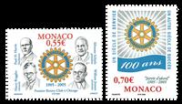 Monaco - Rotary - Postfrisk sæt 2v