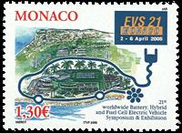 Monaco - Elbil - Postfrisk frimærke
