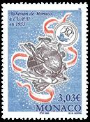 Monaco - Verdenspostunionen - Postfrisk frimærke