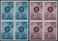 Netherlands 1967 - NVPH 882-883 - Mint - 4 block