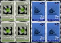Netherlands 1970 - NVPH 973-974 - Mint - 4 block