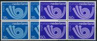 Netherlands 1973 - NVPH 1030-1031 - Mint - 4 block