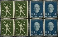 Netherlands 1954 - NVPH 647-648 - Mint - 4 block