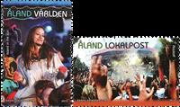 Åland - Berømte musikfestivaler - Postfrisk sæt 2v