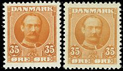 Danmark 1912 - AFA nr.63,a - Postfrisk