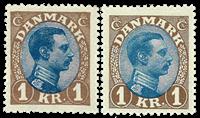 Denmark 1921-22 AFA no. 131, a unused