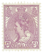 Nederland - 17 1/2 ct violet uit de bontkraagserie(nr. 66, postfris)