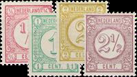Netherlands 1876-1894 - NVPH 30-33 - Unused