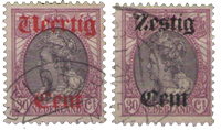Netherlands 1919 - NVPH 102-103 - Cancelled