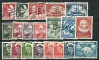 Grønland - 21 stemplede frimærker