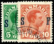 Danmark 1917 - AFA nr.1--2 Stemplet
