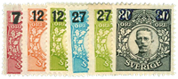 Sverige 1918 - AFA nr.105-10 Postfrisk
