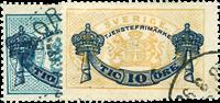 Sverige 1889 - AFA nr.12--13 Stemplet