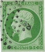 France 1854 Empire 5c green Y&T no 12