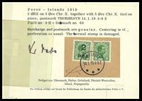 Faroe Islands - Provisionals 1919 - 2/5 øre