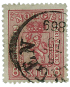 Norway 1867-68 - AFA no. 15 cancelled
