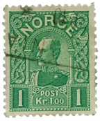 Norway 1909 - AFA no. 72 cancelled
