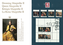 Danmark - Dronning Margrethe 25 års Regeringsjubilæum mappe