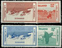 Iceland 1933 - AFA no.167-170 Mint