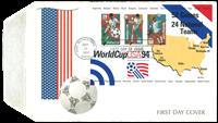 USA - VM i fodbold 1994 - førstedagskuvert med miniark