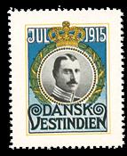 Antilles danoises vignette de Noël 1915