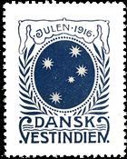 Antilles danoises vignette de Noël 1916
