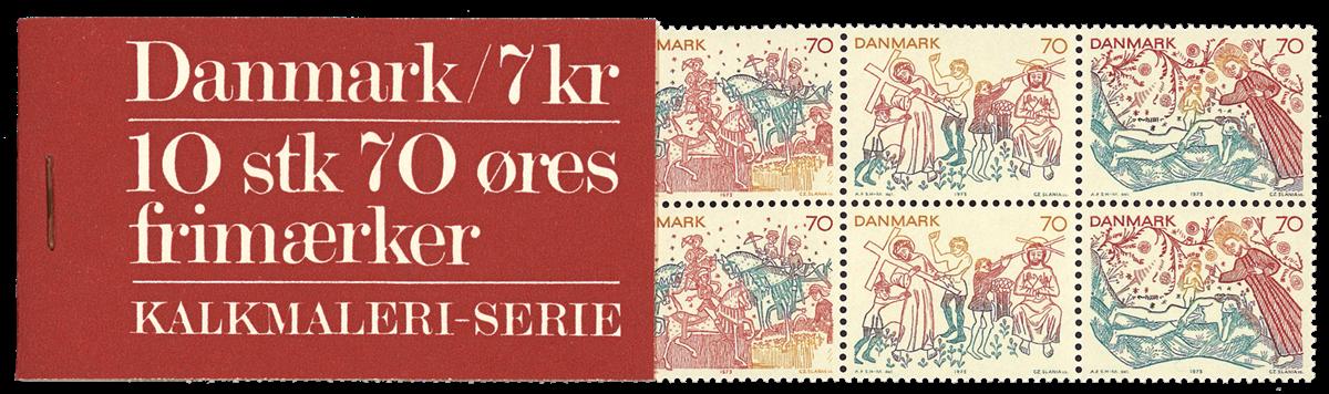 Danmark 1973 - Kalkmalerier hæfte
