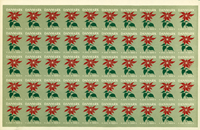 Danmark juleark 1950 utakket