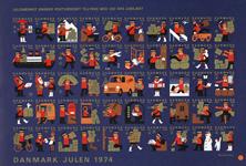 Danmark juleark 1974 utakket