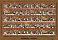 Danmark juleark 1983 utakket