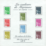 France souvenir sheet Marianne mint - Mint miniature sheet