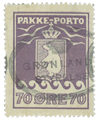 Greenland parcel stamp Thiele 1930, 70 øre