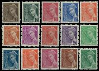 France YT 404-416A - Mint