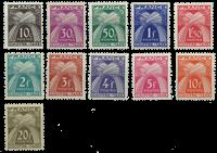 France - YT TX67-77