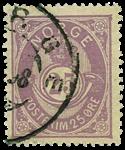 Norge 1885-86 - AFA nr.47 stemplet