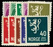 Norge 1940-41 - AFA nr.216-24 postfrisk