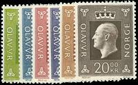 Norway 969-70 - AFA no. 601-06 mint