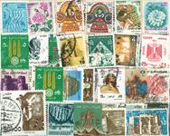 Egypten - frimærkepakke 100 forskellige