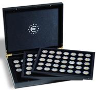 Møntkassette til 2-Euro mønter - plads til 3x35 Mønter - Sort