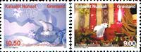 Grønland - Julefrimærker 2013 - Postfrisk sæt 2