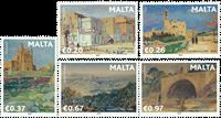 Malta - Berømte malere - Postfrisk 5v