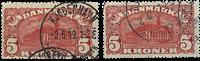 Danmark - AFA nr. 67+81 - 5,- kr. posthuse