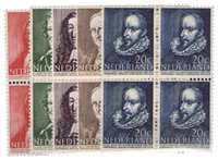 Netherlands 1947 - NVPH 490-494 - Mint - Block of 4